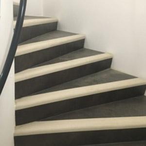 pose de sol pvc escaliers hestia finitions. Black Bedroom Furniture Sets. Home Design Ideas