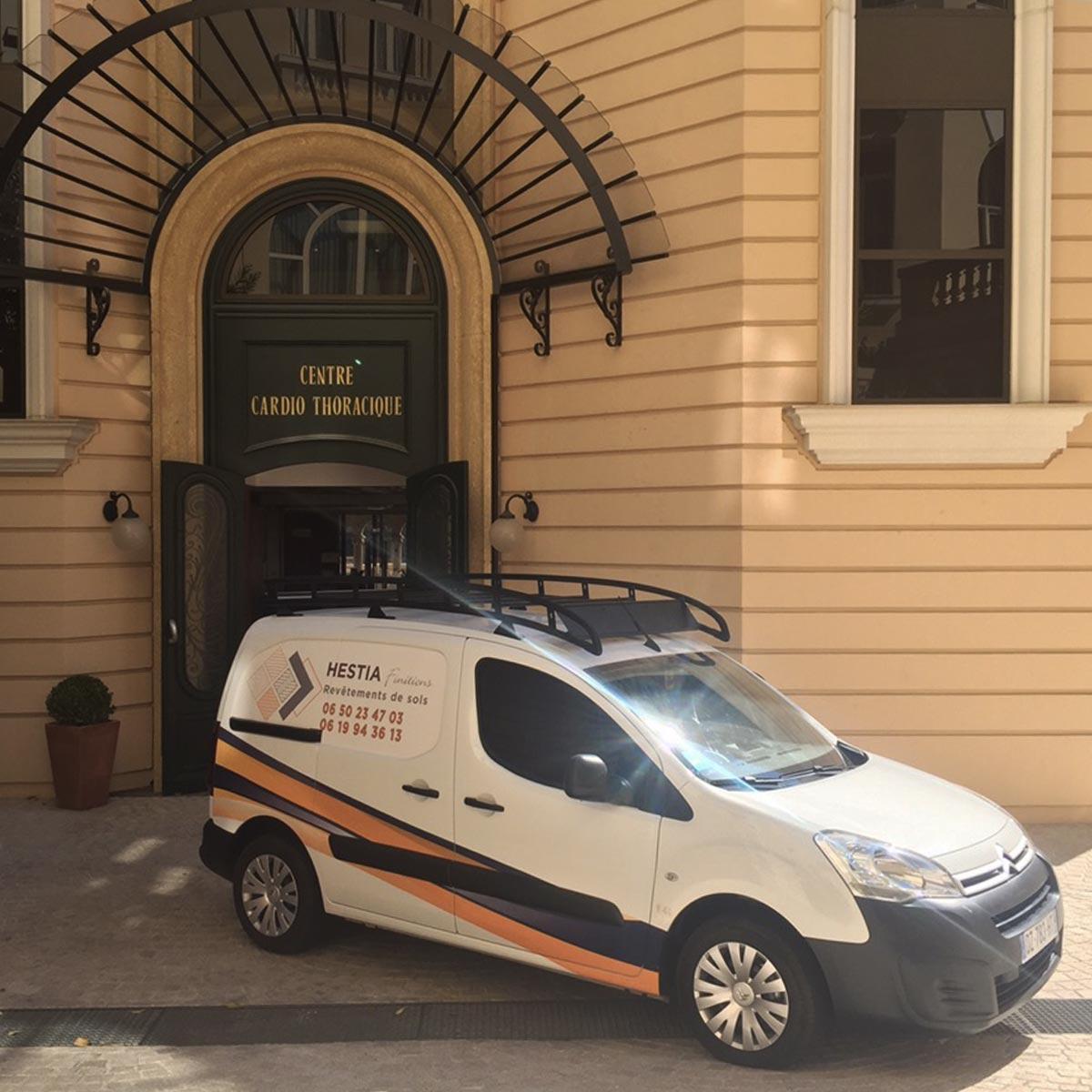 Hestia Finitions en intervention au centre cardio thoracique de Monaco