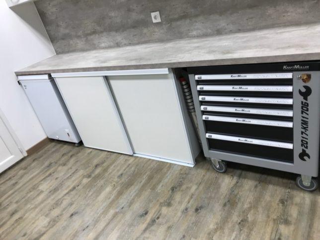 Pose PVC collé - Garage en région Lyonnaise